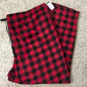 Joe Boxer Buffalo Print Fleece Pajama Bottoms